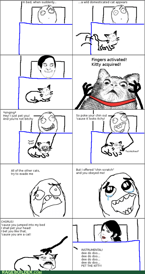 Rage Comics: I Just Pet You, and You Were Fluffy
