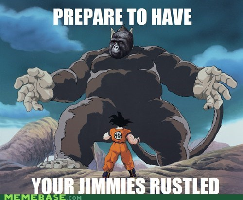 dragonball z,goku,jimmies,Memes,rustles,zoom gas