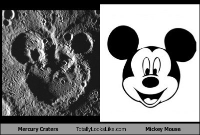 Mercury Craters Totally Looks Like Mickey Mouse