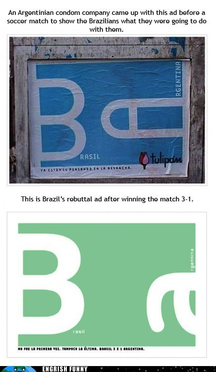 Brazil vs. Argentina. Just as Bad as England vs. France