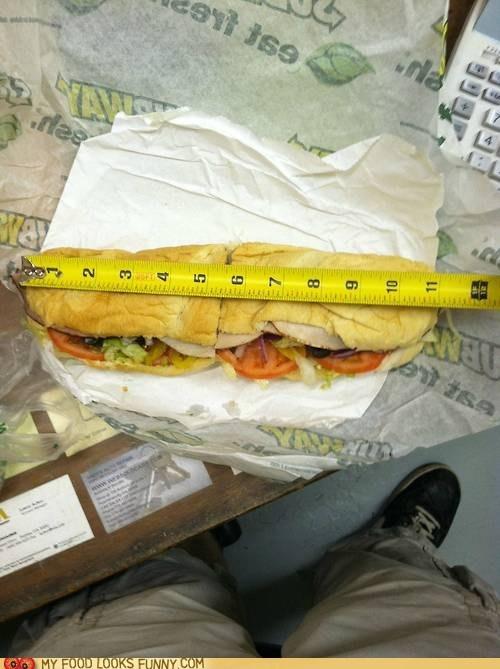 footlong,lies,measuring tape,sandwich,Subway