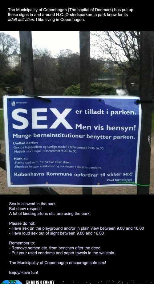 Engrish Funny: Denmark: You're Doing It Right (In More Ways Than One)