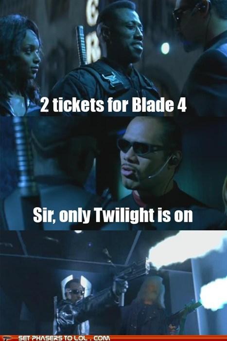 blade,killing dudes,mercy kill,movie theater,tickets,wesley snipes