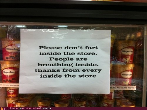 farts,ice cream,sign,store,wtf