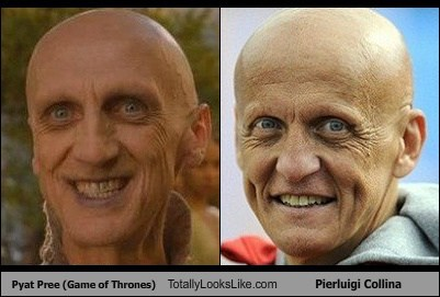 Pyat Pree (Game of Thrones) Totally Looks Like Pierluigi Collina