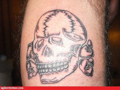 crossbones,leg tattoos,skull