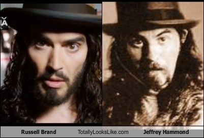 Russell Brand Totally Looks Like Jeffrey Hammond