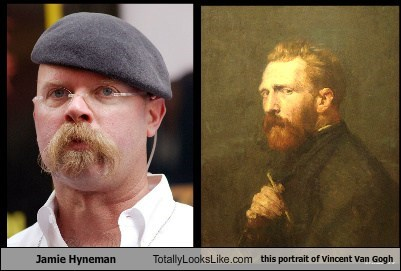 Jamie Hyneman Totally Looks Like this portrait of Vincent Van Gogh