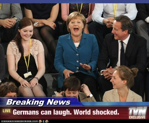 angela merkel,Breaking News,german,laugh,shocked