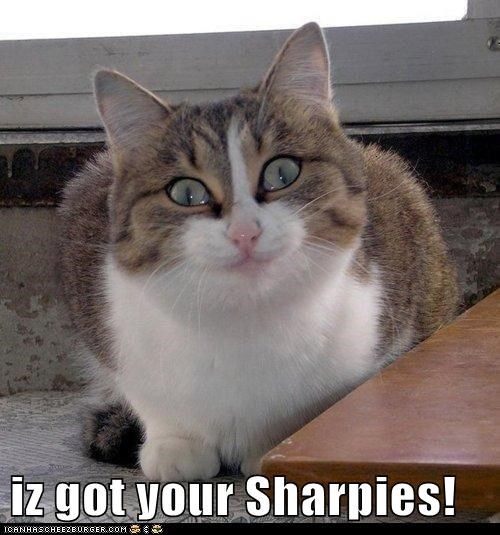 iz got your Sharpies!