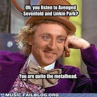 avenged sevenfold,condescending wonka,linkin park,metal