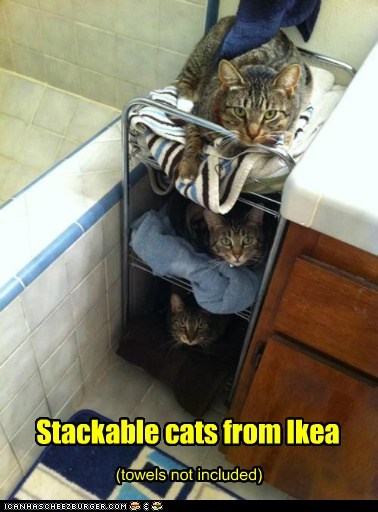 Stackable cats from Ikea