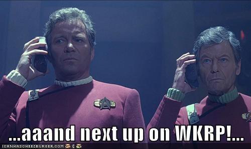 Captain Kirk,DeForest Kelley,McCoy,radio,Shatnerday,Star Trek,William Shatner,WKRP in Cincinnati