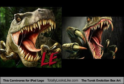 This Carnivores for iPod Logo Totally Looks Like The Turok Evolution Box Art