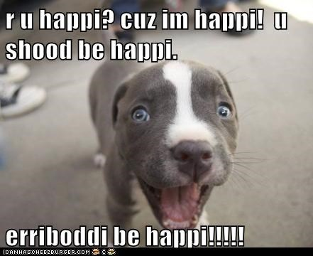 I Has A Hotdog: Erriboddi be happi!