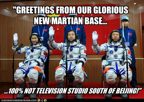 astronauts,Mars,political pictures