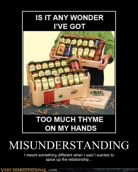 hilarious,misunderstanding,relationship,spices