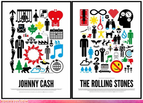 Pictographic Rock Band Posters
