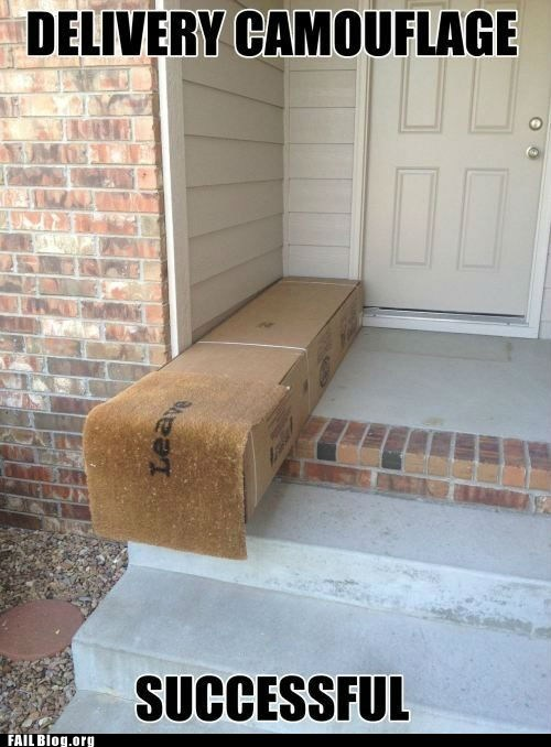 cover up,door mat,fail nation,g rated,package,stairs