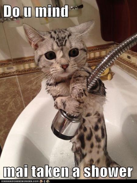 Do u mind  mai taken a shower
