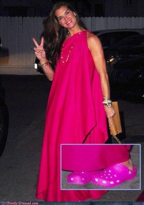 As If Wearing a Neon Pink Burlap Sack Wasn't Bad Enough