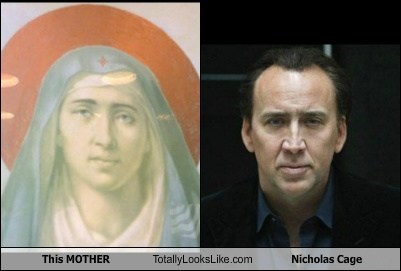 This Holy Mother Totally Looks Like Nicolas Cage