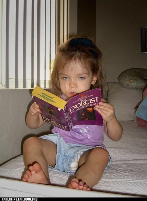 book,creepy girl,the exorcist
