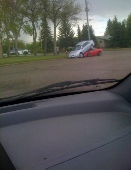 car crash,sweet parking job,parking