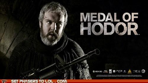 Game of Thrones,hodor,kristian nairn,mashup,medal of honor,video games