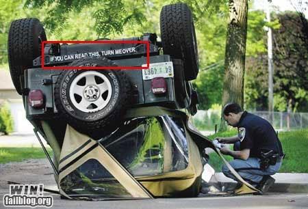 accident,flip,irony,sign,truck