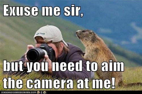 amateur,camera,excuse me,FAIL,good side,gopher,photographer