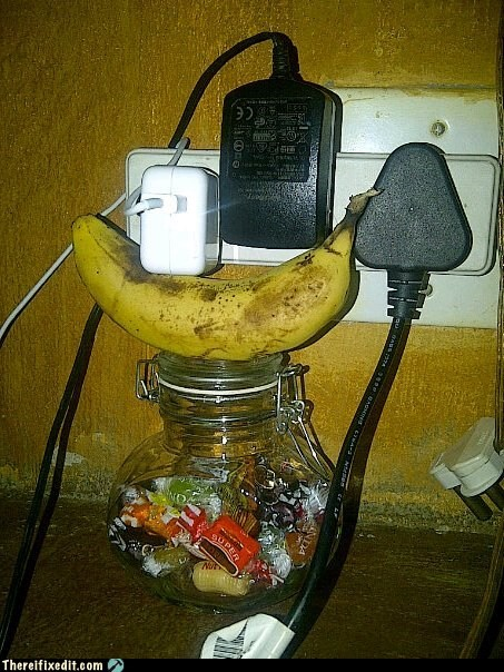 banana,charger,socket