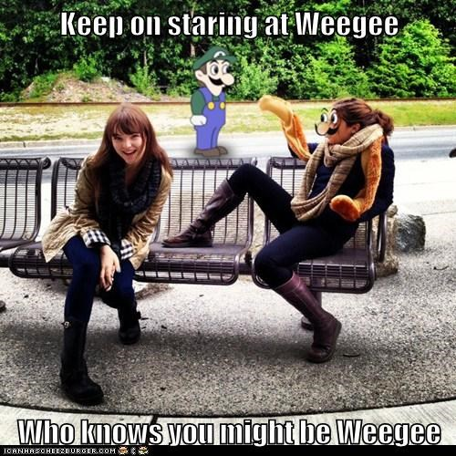 Keep on staring at Weegee  Who knows you might be Weegee