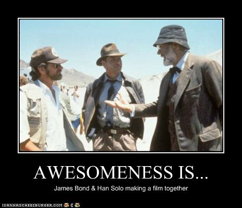 actor,celeb,demotivational,funny,Hall of Fame,Harrison Ford,Indiana Jones,Movie,sean connery,steven spielberg