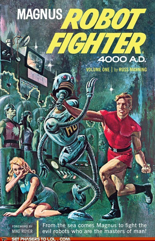WTF Sci-Fi Book Covers: Magnus Robot Fighter 4000 A.D.