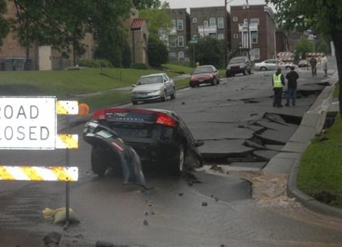 concrete,asphalt,roads,road closed,potholes