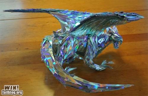 art,CD,dragon,nerdgasm,sculpture