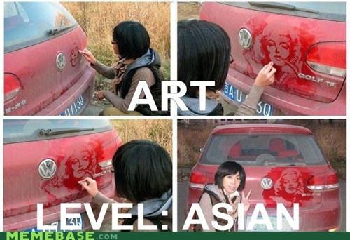 art,asian,car,dirt,marilyn monroe,white