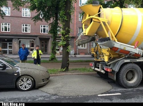 Pouring Cement FAIL