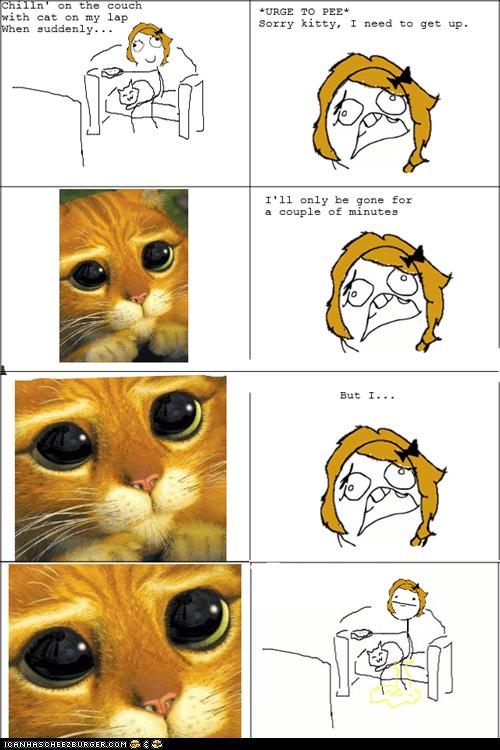 annoying,Cats,comics,eyes,memebase,multipanel,pee,peeing,please,Rage Comics,sad eyes