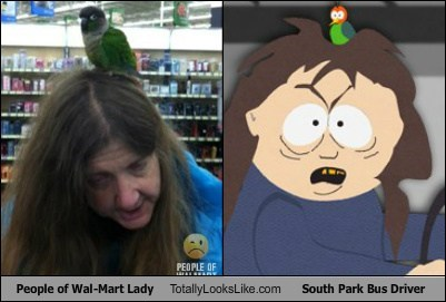 People of Wal-Mart Lady Totally Looks Like South Park Bus Driver (Ms. Crabtree)