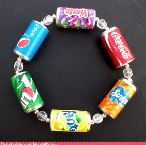 beads,bracelet,cans,Jewelry,pop,rainbow,soda
