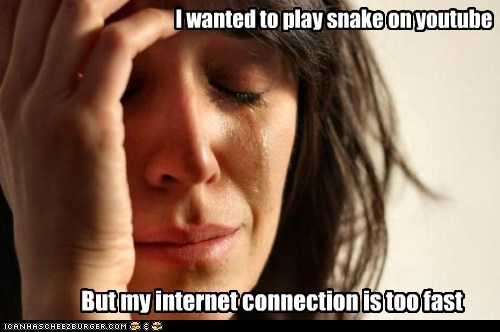 I wanted to play snake on youtube