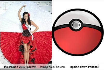 Ms. Poland 2010s outfit Totally Looks Like Upside-down Pokeball