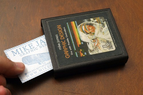 Atari Business Card Holders of the Day