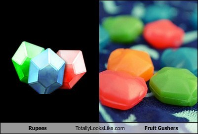 Rupees Totally Looks Like Fruit Gushers