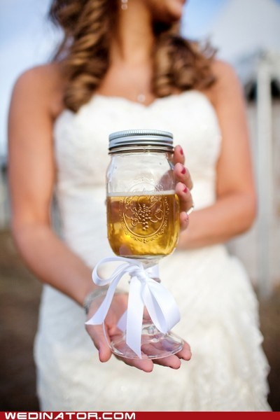 bride,funny wedding photos,jar,lab sample,rustic,urine