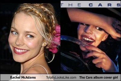 actor,celeb,funny,Music,rachel mcadams,the cars,TLL