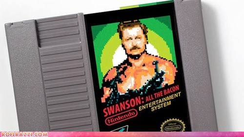 Ron Swanson as an NES Game