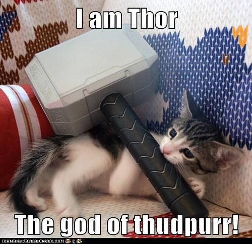 I am Thor  The god of thudpurr!